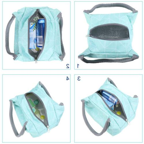 Insulated Lunch Cooler Picnic Food Women Carry Bags Handbags