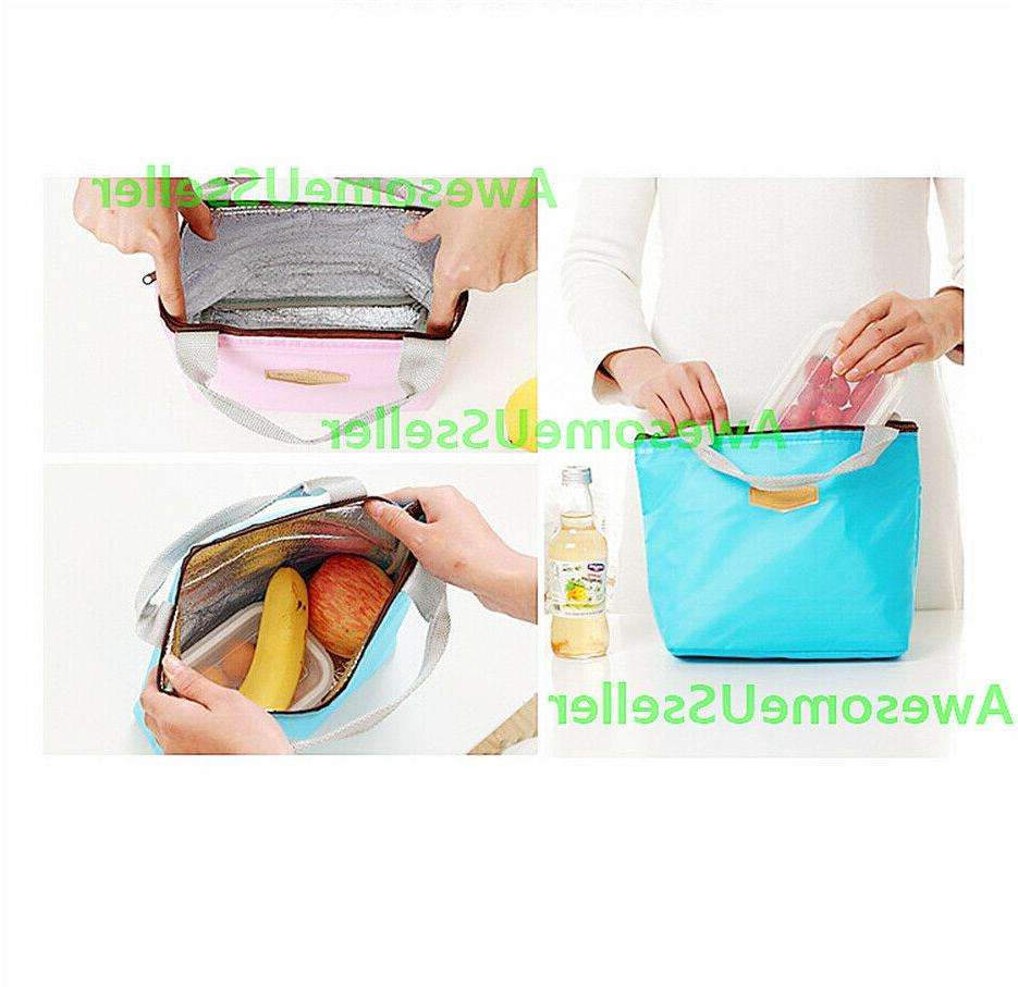 Insulated Lunch Bag Picnic Travel Women Tote Handbags