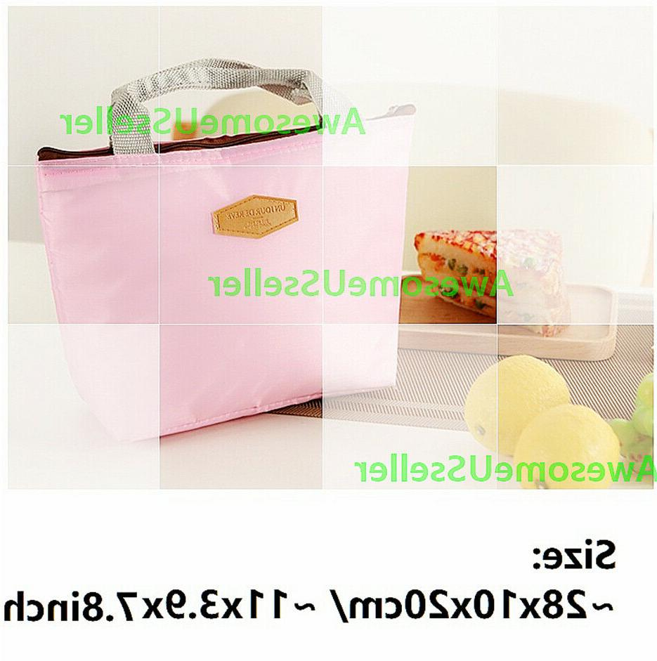 Insulated Lunch Bag Picnic Box Women Carry