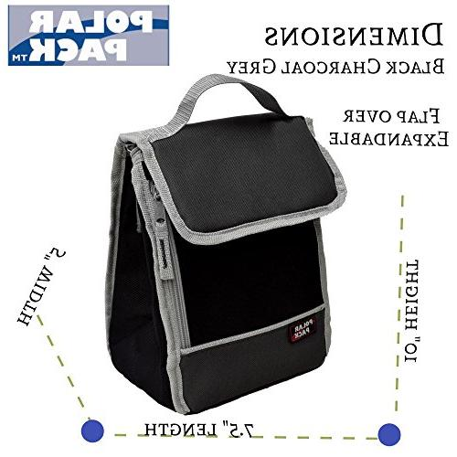 POLAR PACK Insulated Lunch Bag Cooler Bag Pocket Insulated Picnic Indoor Carry Bag Travel Bag for Work