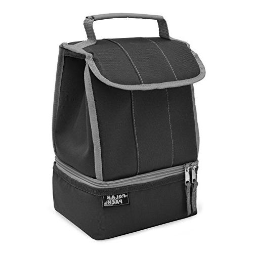 POLAR Insulated Lunch Bag Insulated Cooler Bag Side Pocket Handle Carry Picnic Carry Portable Bag & Work