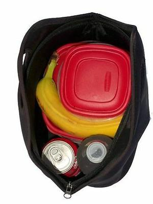 insulating neoprene lunch tote bag