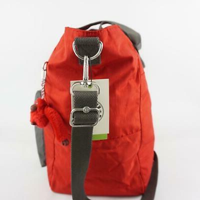 KIPLING ISAAC Nylon Travel Carryall Bag Cherry Bold Block