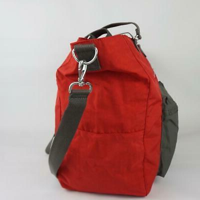 KIPLING ISAAC Nylon Carryall Tote Bag Bold Block