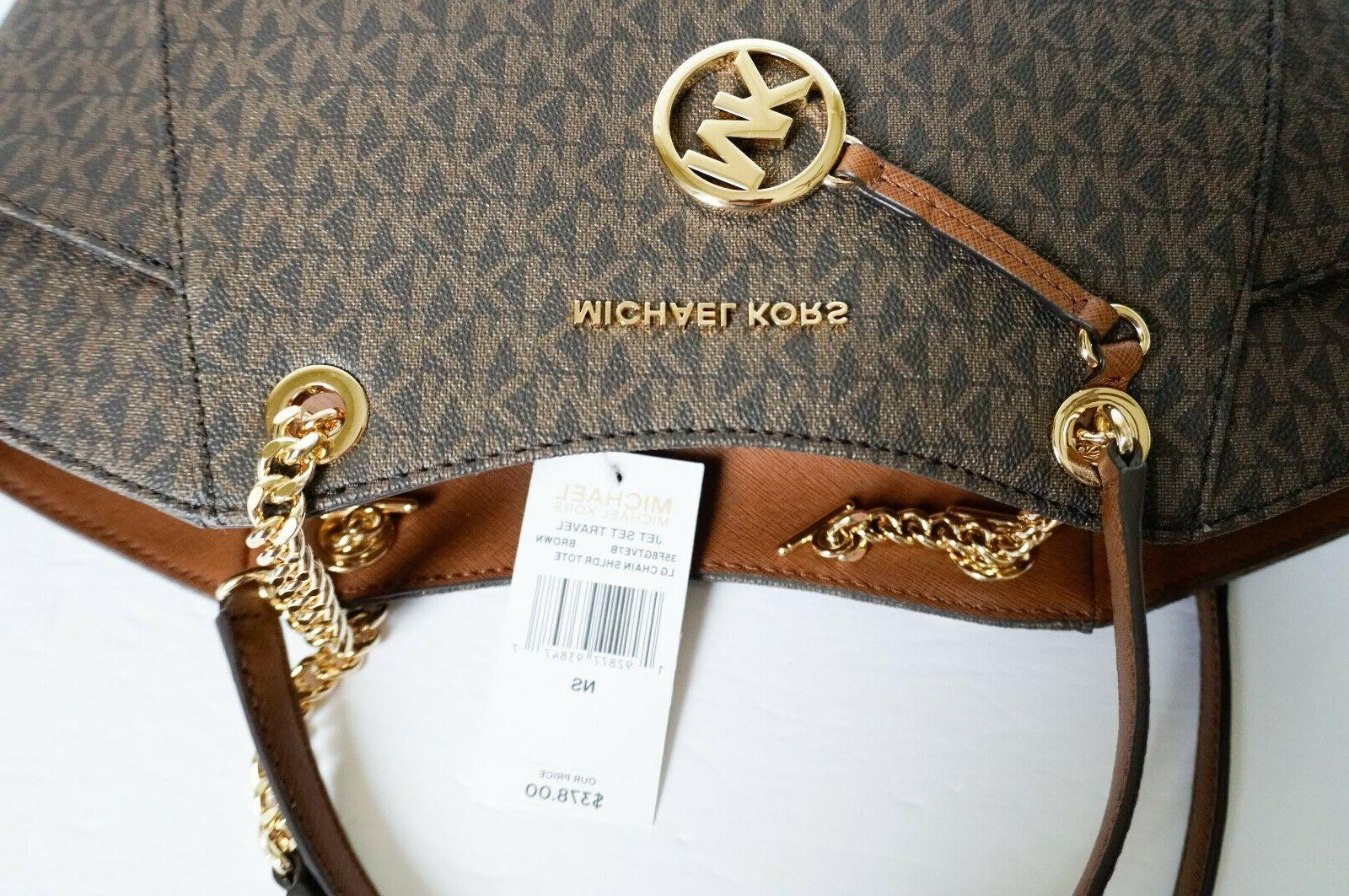 MICHAEL KORS TOTE TRIFOLD WALLET MK SIGNATURE
