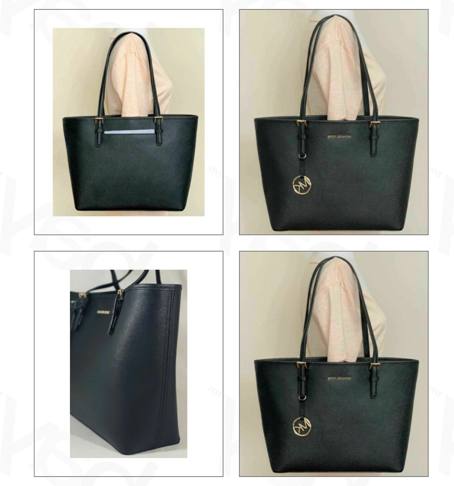jet set travel medium saffiano leather carryall
