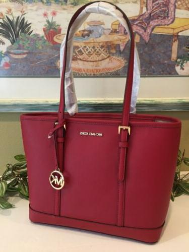MICHAEL TRAVEL SMALL ZIP TOTE LEATHER