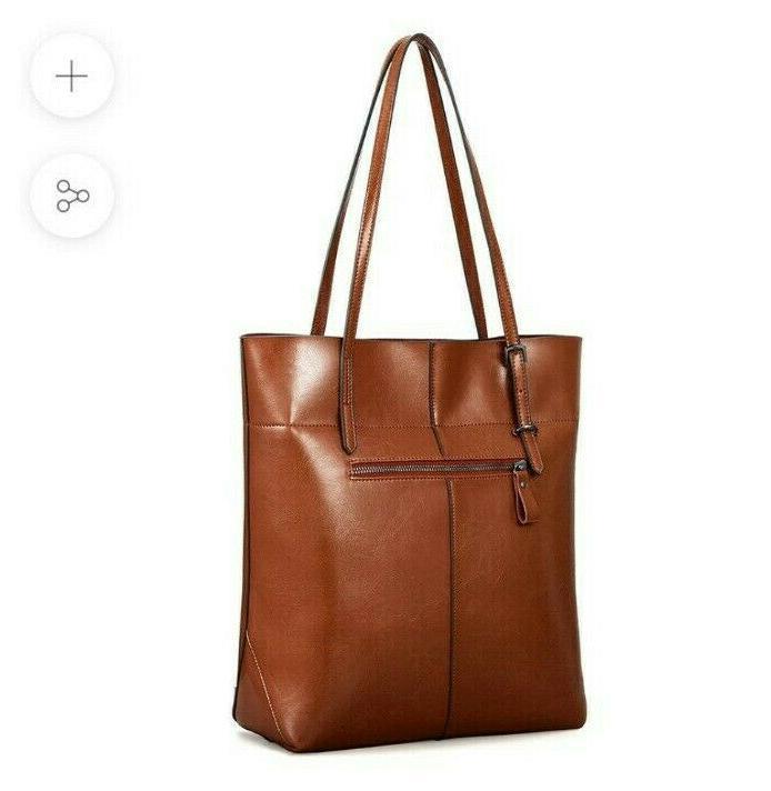 Kattee Leather Tote Shoulder Bag With Adjustable