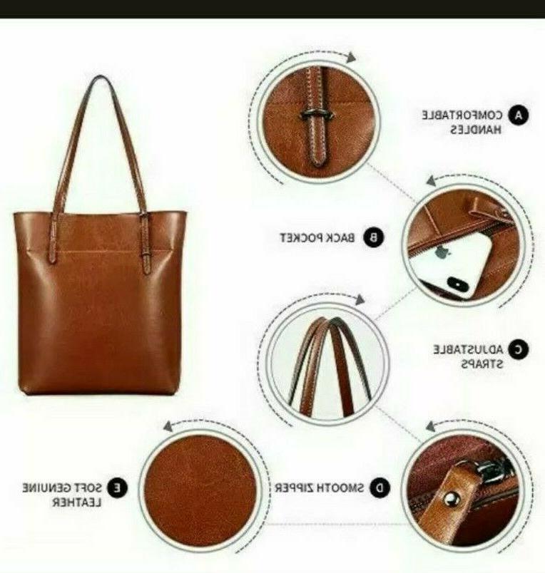 Kattee Genuine Leather Tote Adjustable