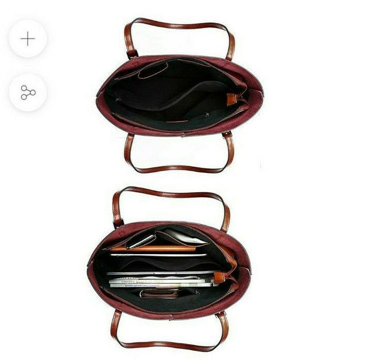 Kattee Vintage Genuine Tote Shoulder Adjustable Handles