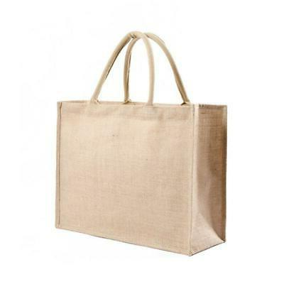 Kitchen Reusable Grocery Bags Natural Burlap Tote Bags Jute