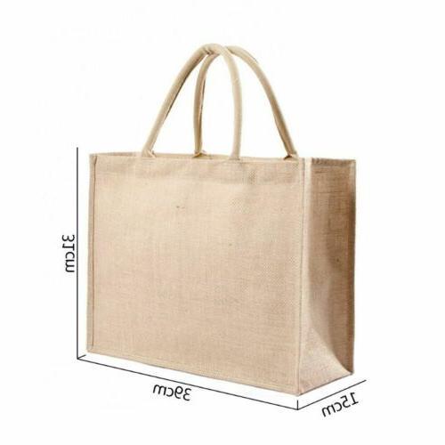 Kitchen Reusable Natural Burlap Tote Bags Jute Bags Shopping