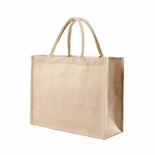 kitchen reusable grocery bags natural burlap tote