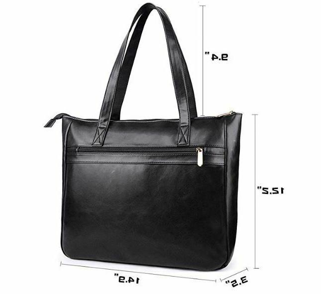 EDODAY for women 15.6 inch computer tote BROWN NEW