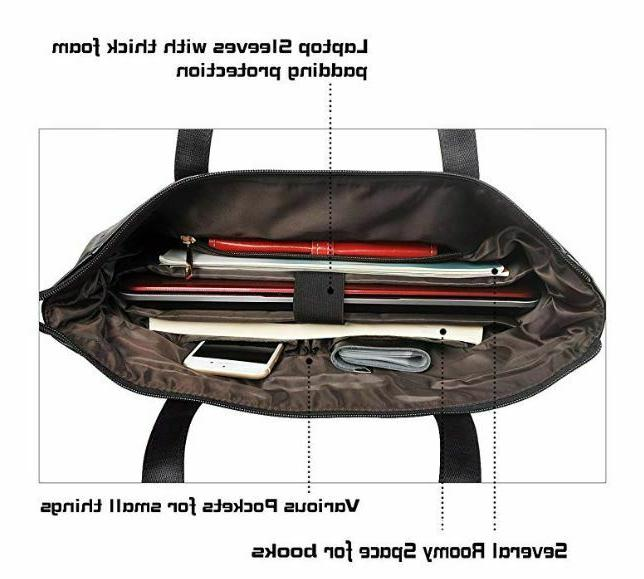 EDODAY laptop bag for 15.6 computer Travel BROWN