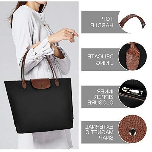 Laptop Tote Water Resistant Nylon Bag Women Tote Bag Handle