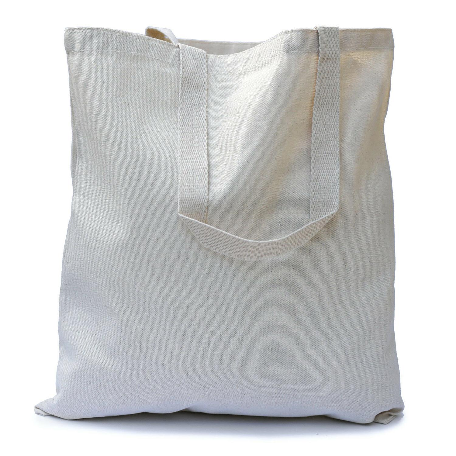 large natural tote bag for shopping school