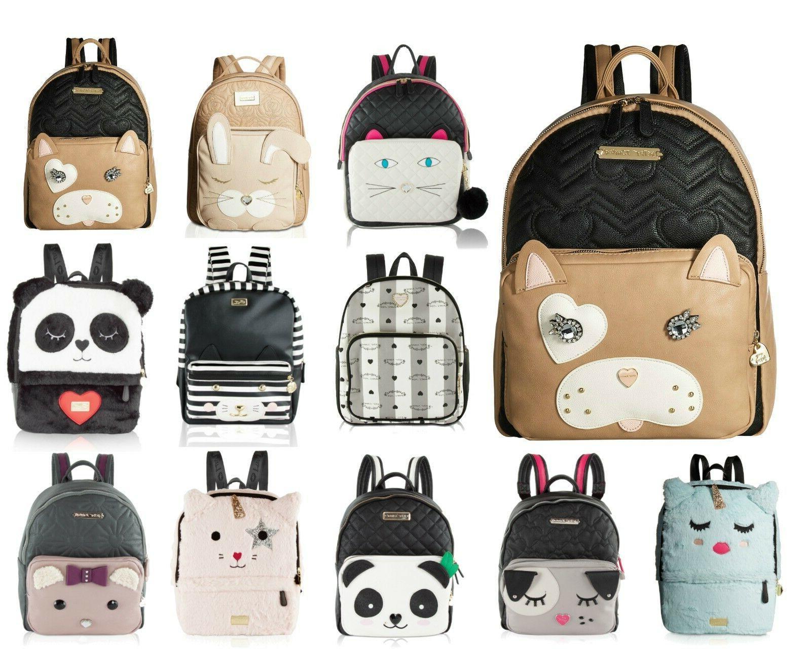 Betsey Johnson Large School Travel Luggage Backpack Purse Bo