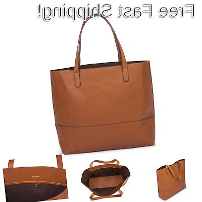 large vegan leather tote womens slouchy shoulder