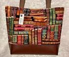 Larger size Library Books Purse Tote Bag Handmade Vinyl Bott