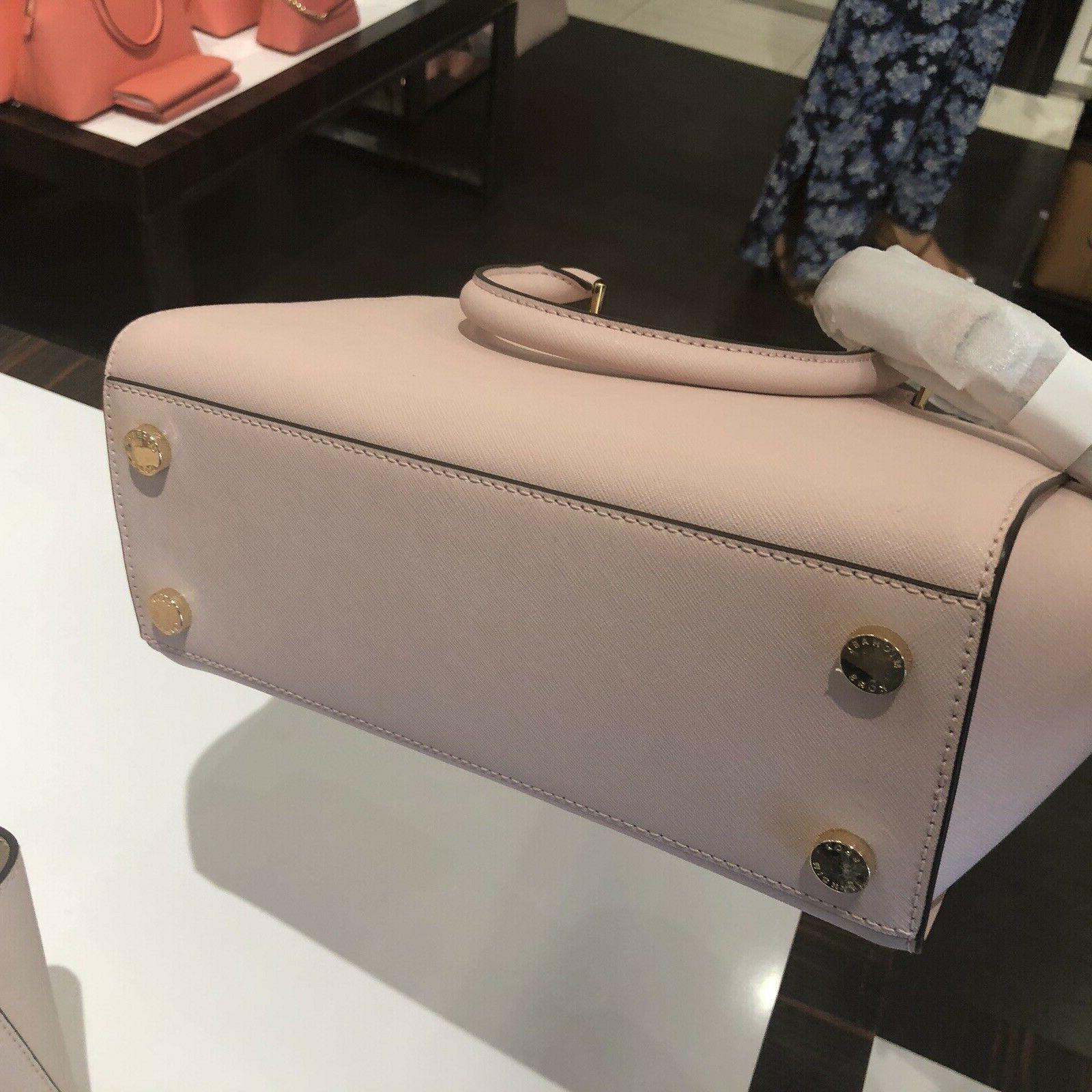 Michael Leather Satchel Crossbody Messenger Handbag Purse