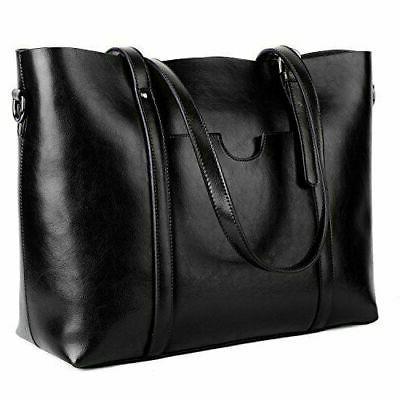 leather tote work women s shoulder bag