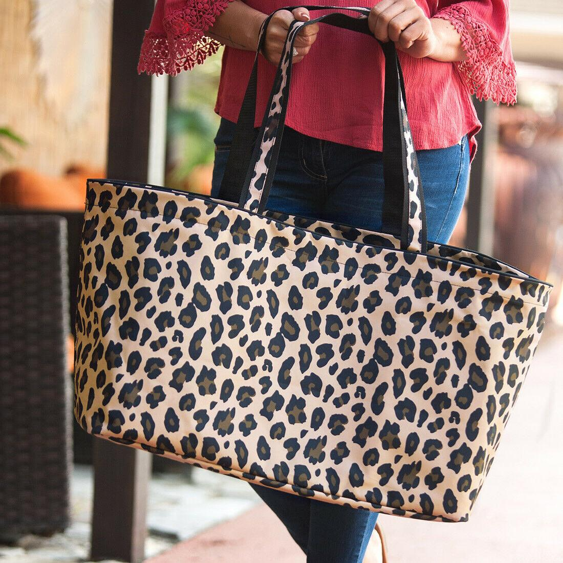 LEOPARD TRAVEL TOTE COSMETIC ZIP POUCH TUNIC