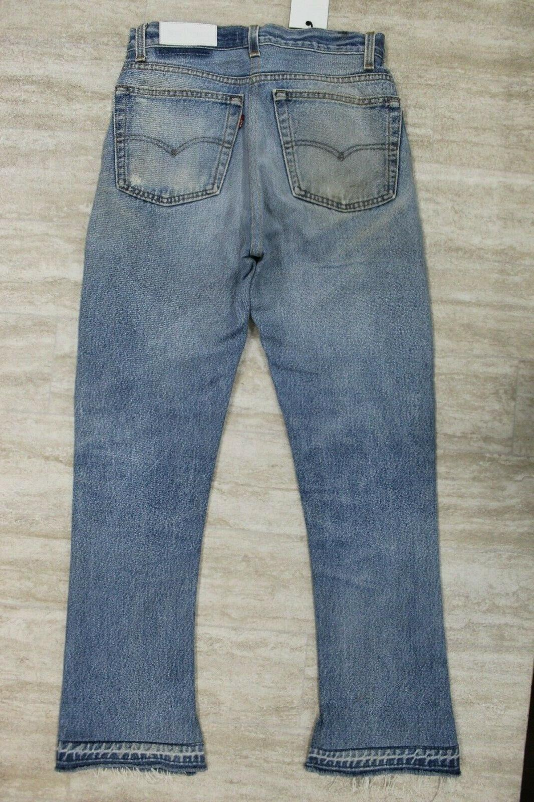 Levi's Hem Flare Reconstructed Denim Jeans NEW #7
