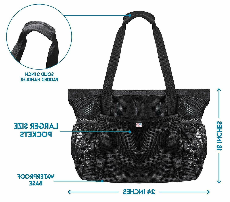 Light Mesh Bag Tote Bag for Toys, Picnic, Outdoor