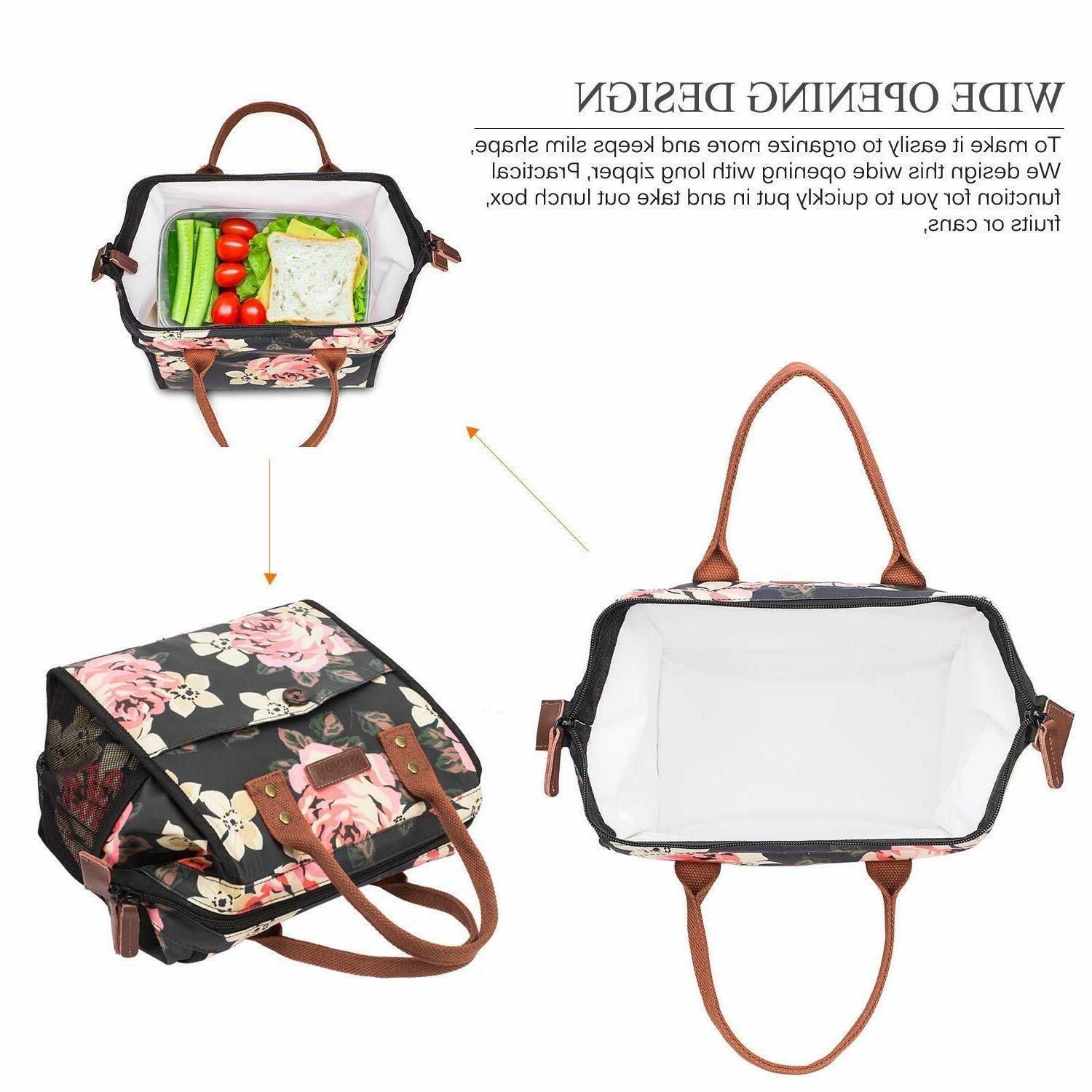 LOKASS Insulated Lunch Bag Cooler Food Bag Lunch &