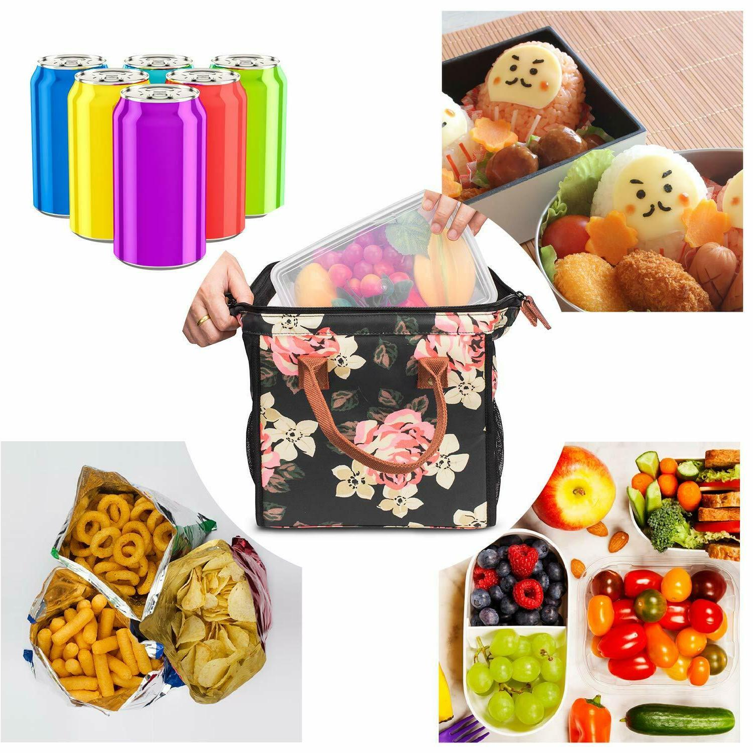 LOKASS Insulated Cooler Food Box Tote Bag & Working