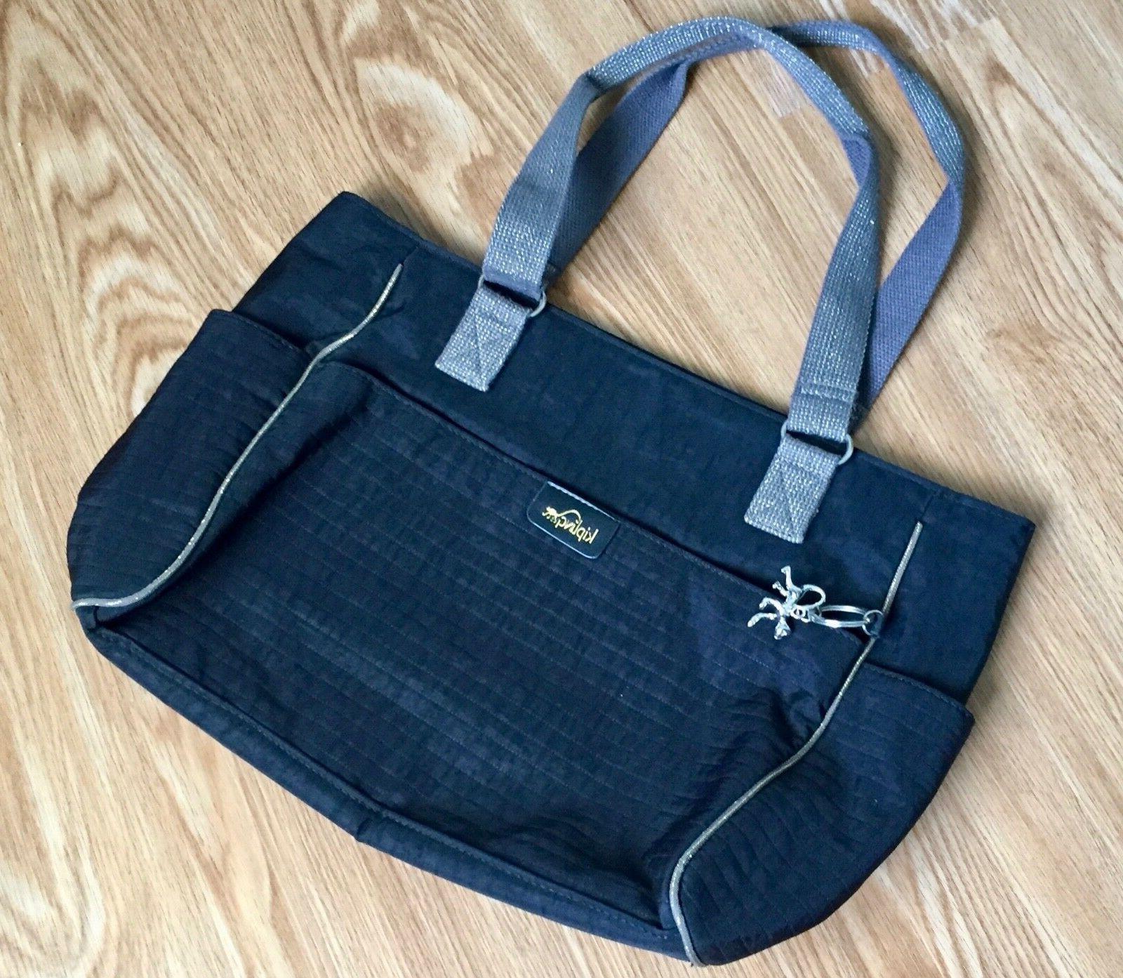 LOOK!! KIPLING Medium Size Tote Bag, NEW no Tag, Dark Blue P