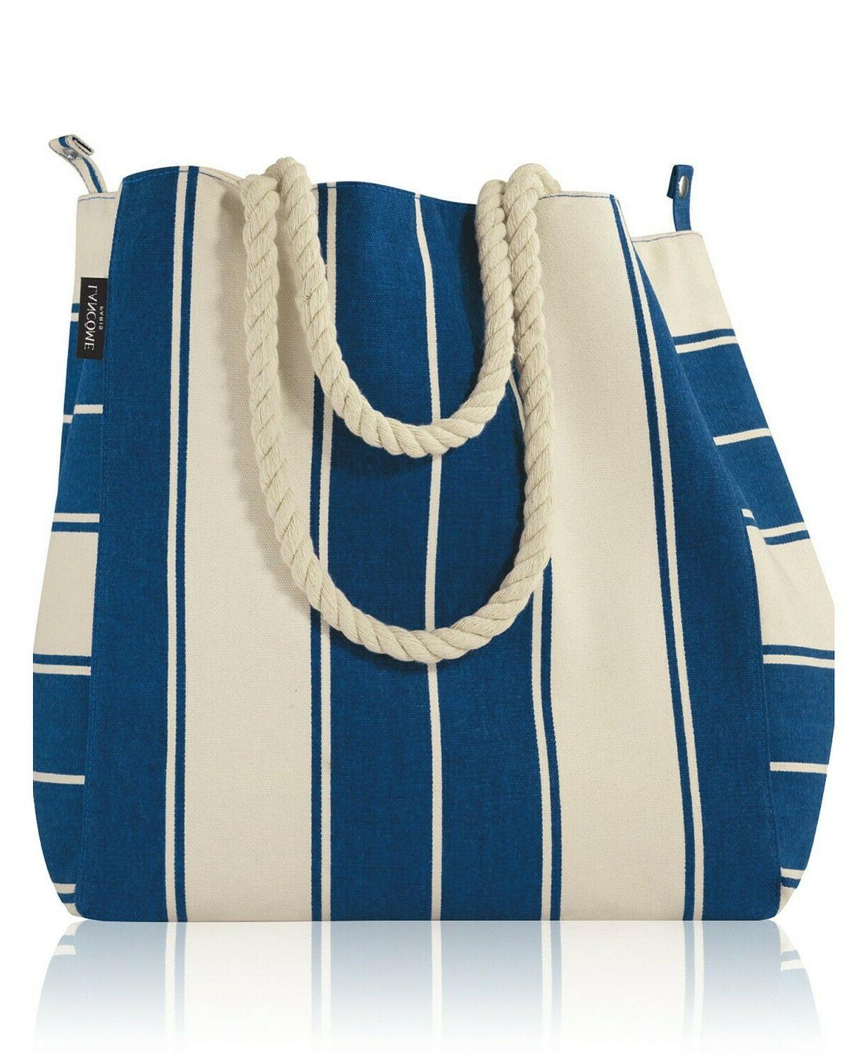 Lot of 10 x Lancome  Blue and White Striped Canvas Summer To