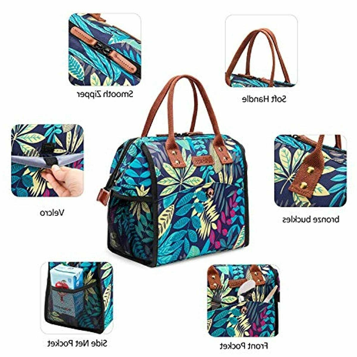 LOKASS Bag Tote Insulated Lunch Box Water-resistant T