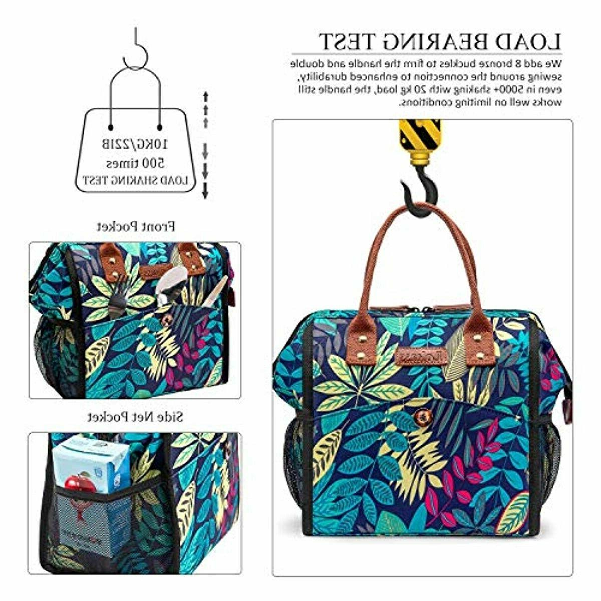 LOKASS Lunch Bag Cooler Bag Tote Insulated Box Water-resistant T