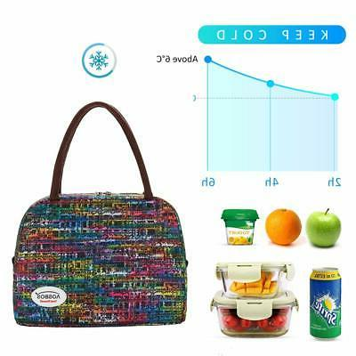 Aosbos Women Insulated Lunch Box Meal Pr...