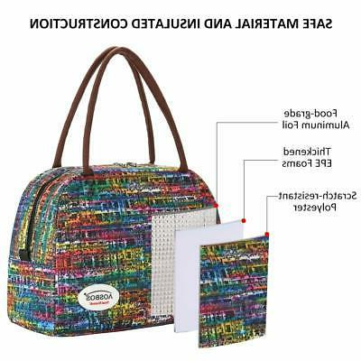 Aosbos Bag Women Insulated Lunch Large Meal Pr...