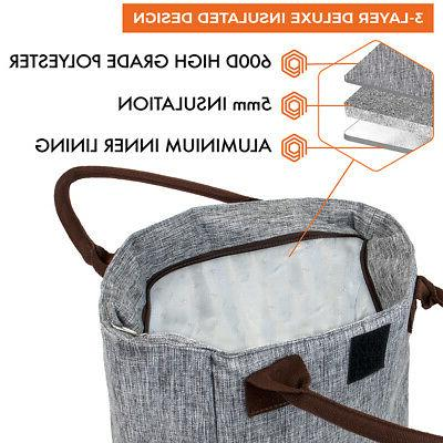 Lunch Bag Women Thermal Insulated Tote Purse Work Office Picnic