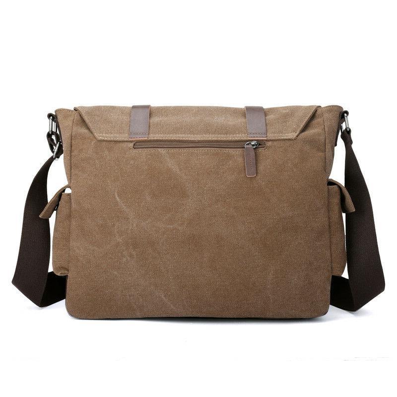 Men Canvas Crossbody Bags Shoulder Messenger Bags Big Casual Tote Bag