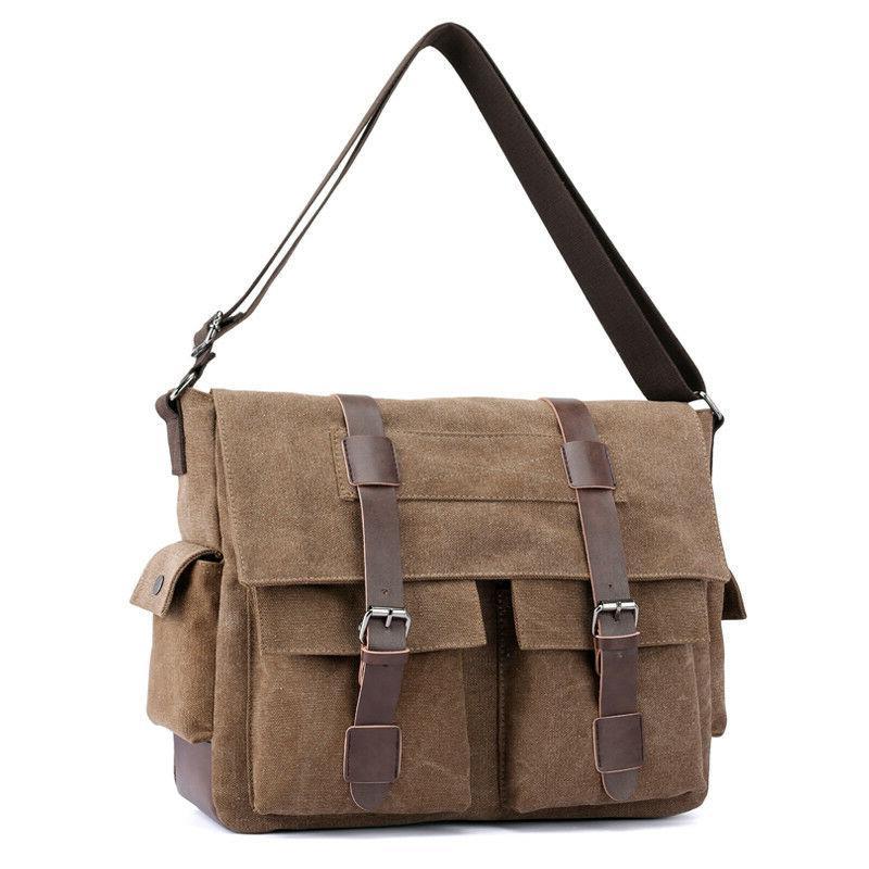 Men Crossbody Shoulder Bags Vintage Big Tote