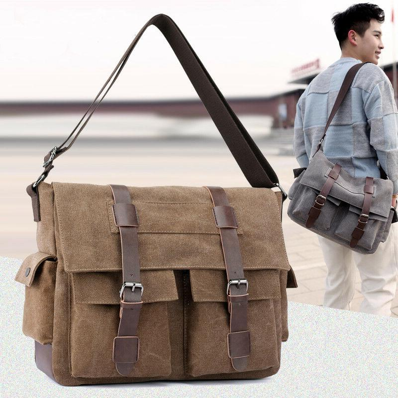 men canvas crossbody bags shoulder messenger bags