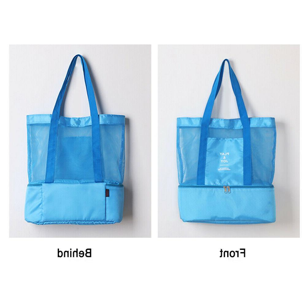 Mesh Bag Picnic Cooler Insulated Outdoor Travel
