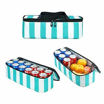 BLUBOON Mesh Bag with Cooler Insulated A Turquoise