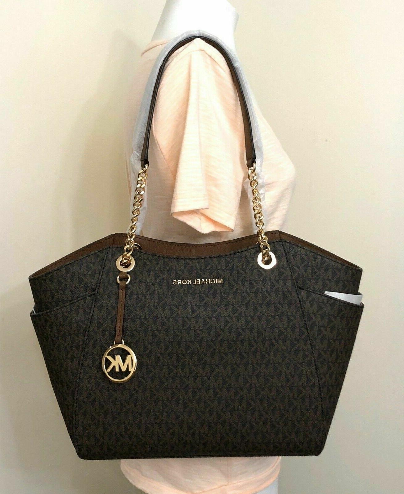 Michael Kors Chain MK Signature Large Tote Bag