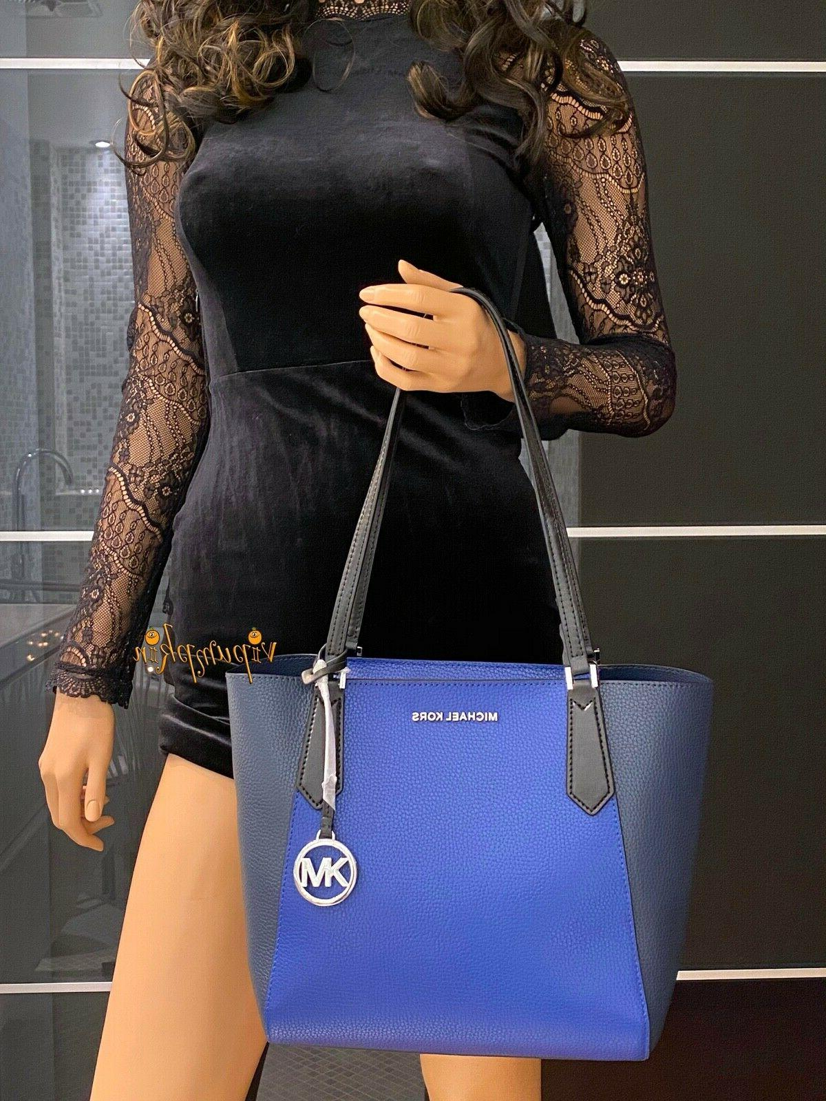 Michael Kimberly Small Bonded Tote Cobalt Multi