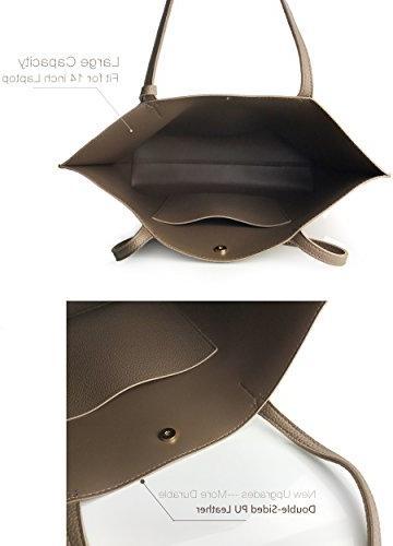 Minimalist Clean Faux Leather Tote Shoulder Handbag