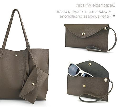 Faux Leather Shoulder Handbag