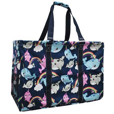 narwhal world mega shopping utility tote bag