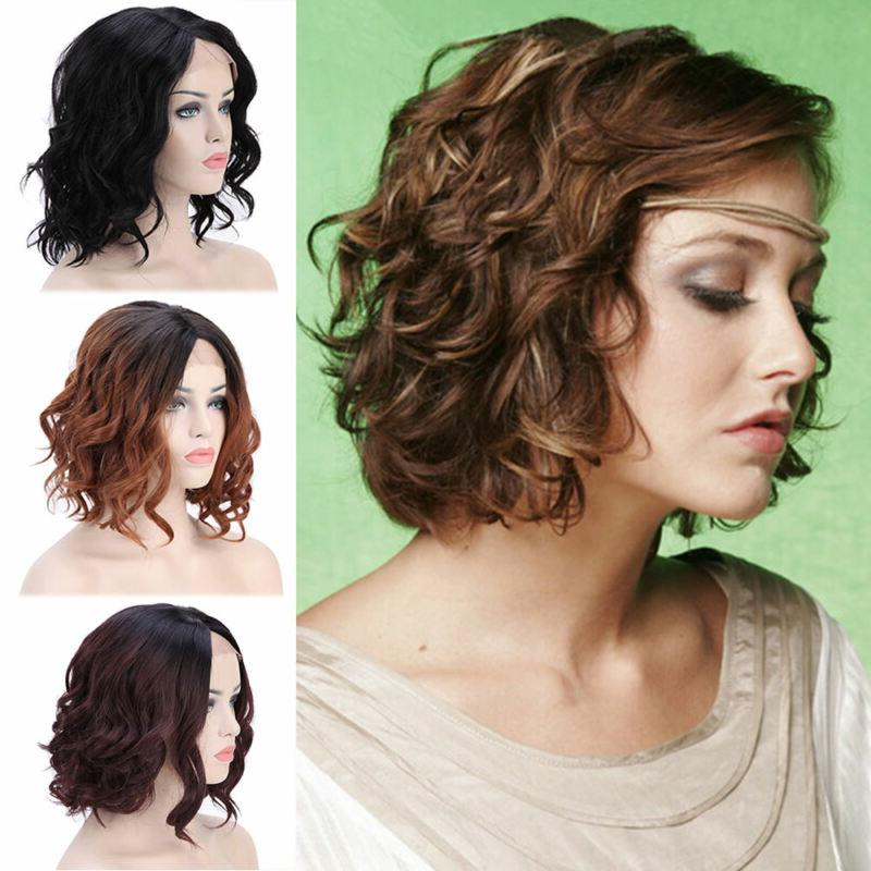 natural black full head hair short curly