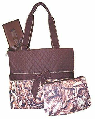NGIL Natural Camo Print Quilted Diaper Bag